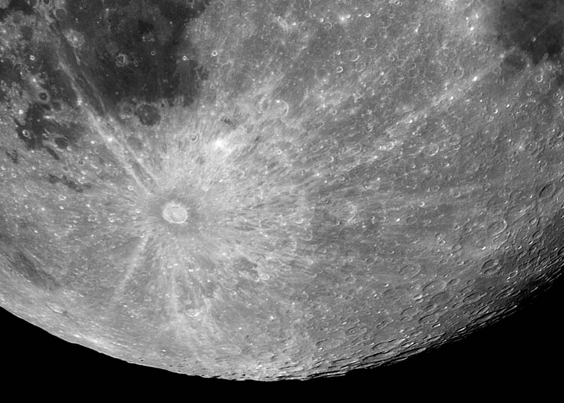 Tycho crater by Frank Barrett celestialwonders.com